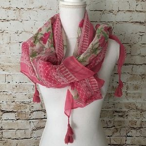 OLD NAVY Pink & Green Lightweight Square Scarf